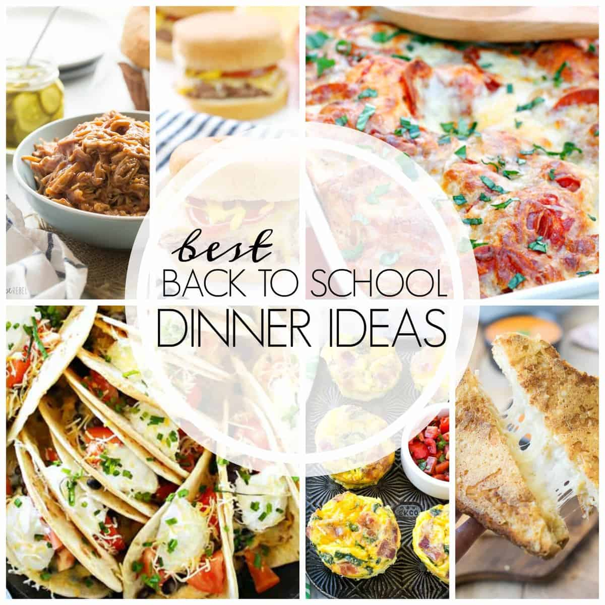 Tons of EASY dinner recipes for back to school: tacos, sandwiches, one pot meals, skillet meals, and everything in between!