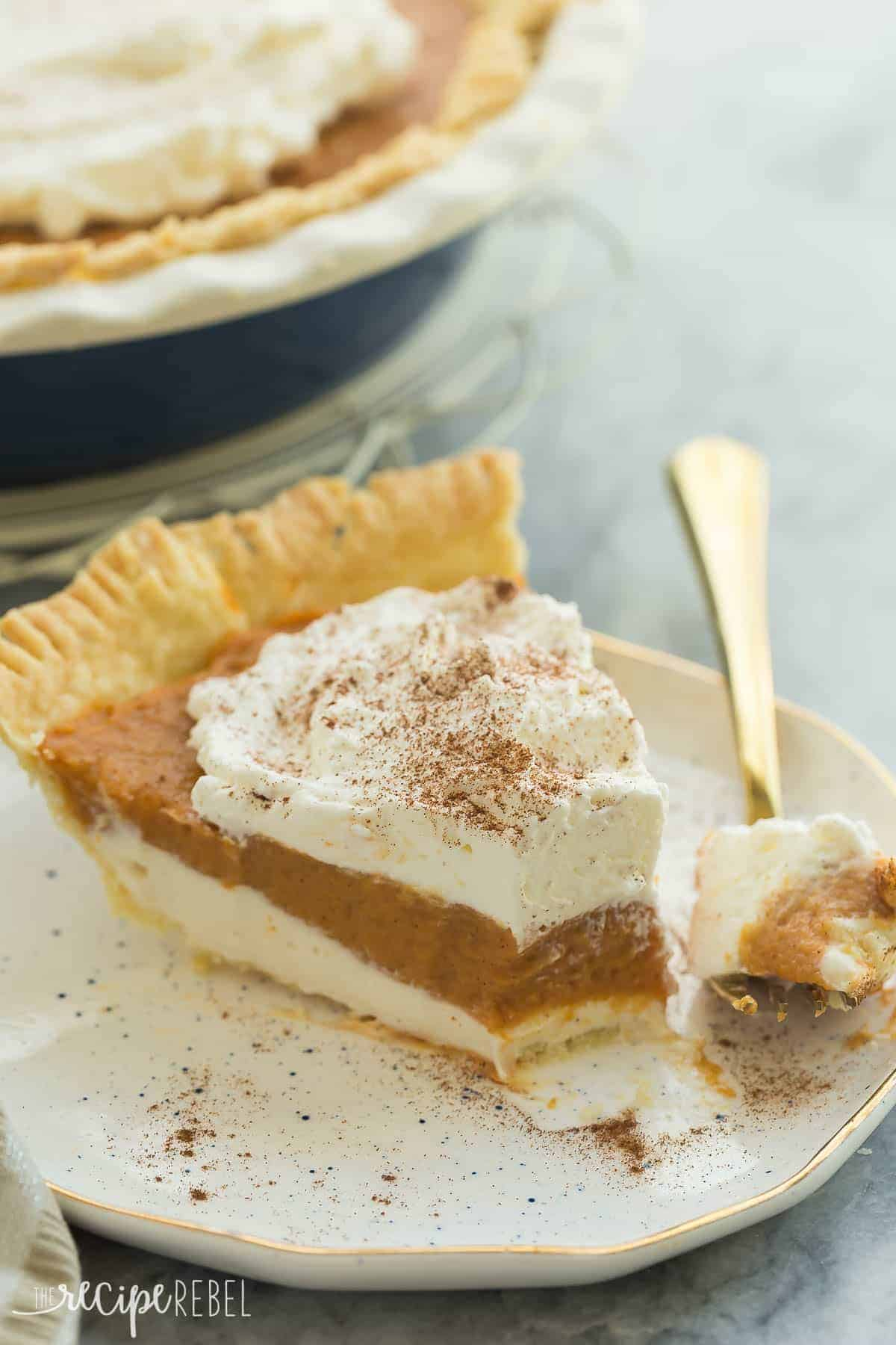 This Is The Ultimate Pumpkin Pie Plete With A Homemade Crust Creamy Cheesecake