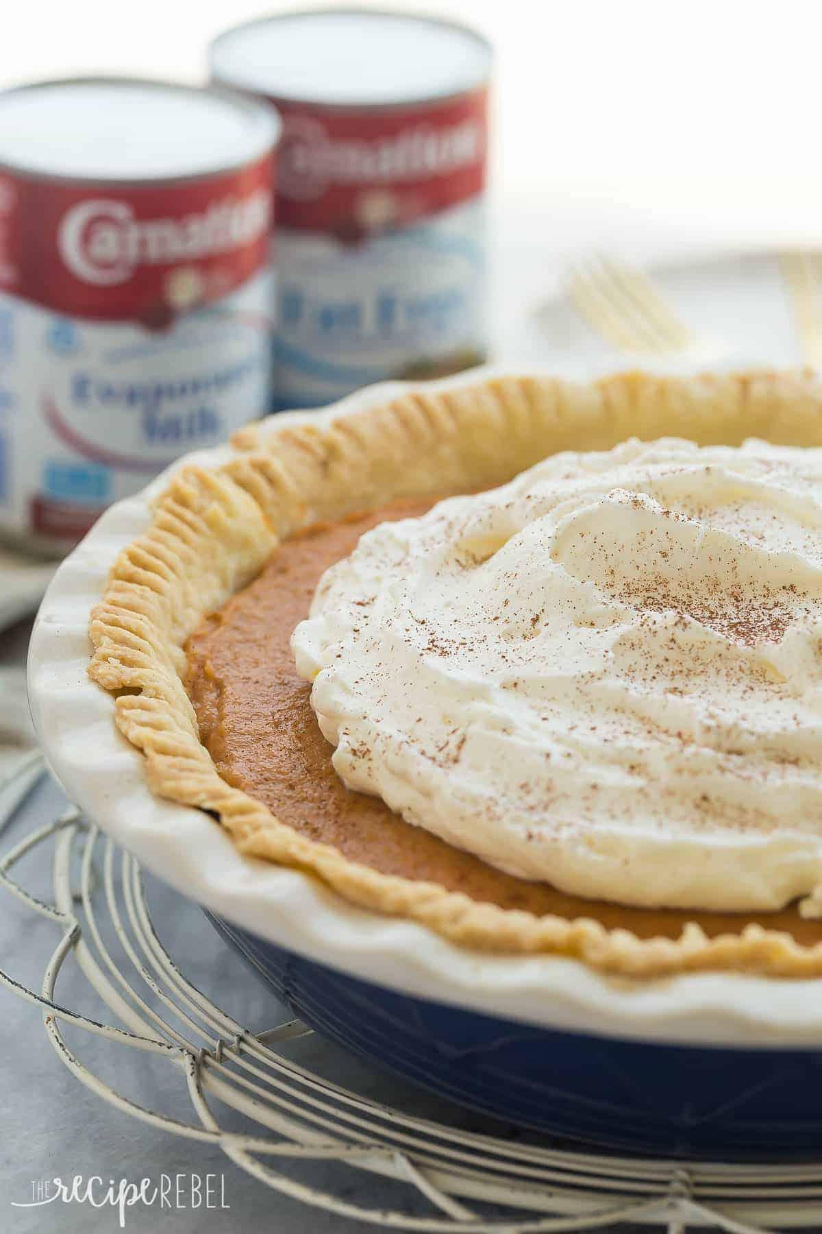 Cream eating her husband pie