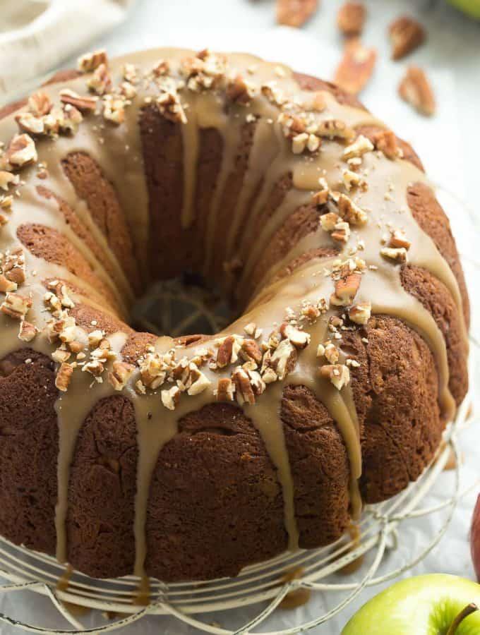 Praline-Glazed Apple Bundt Cake