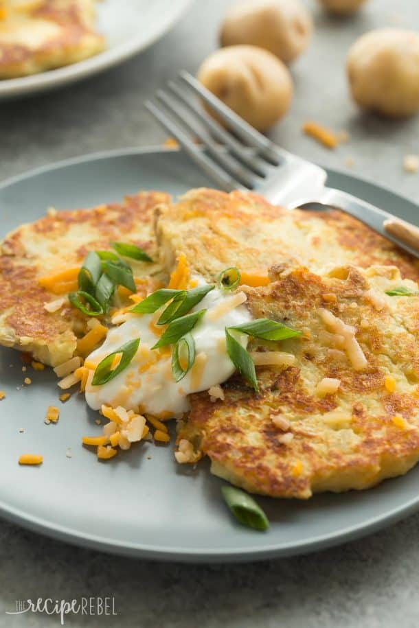 Cheesy Mashed Potato Pancakes Recipe