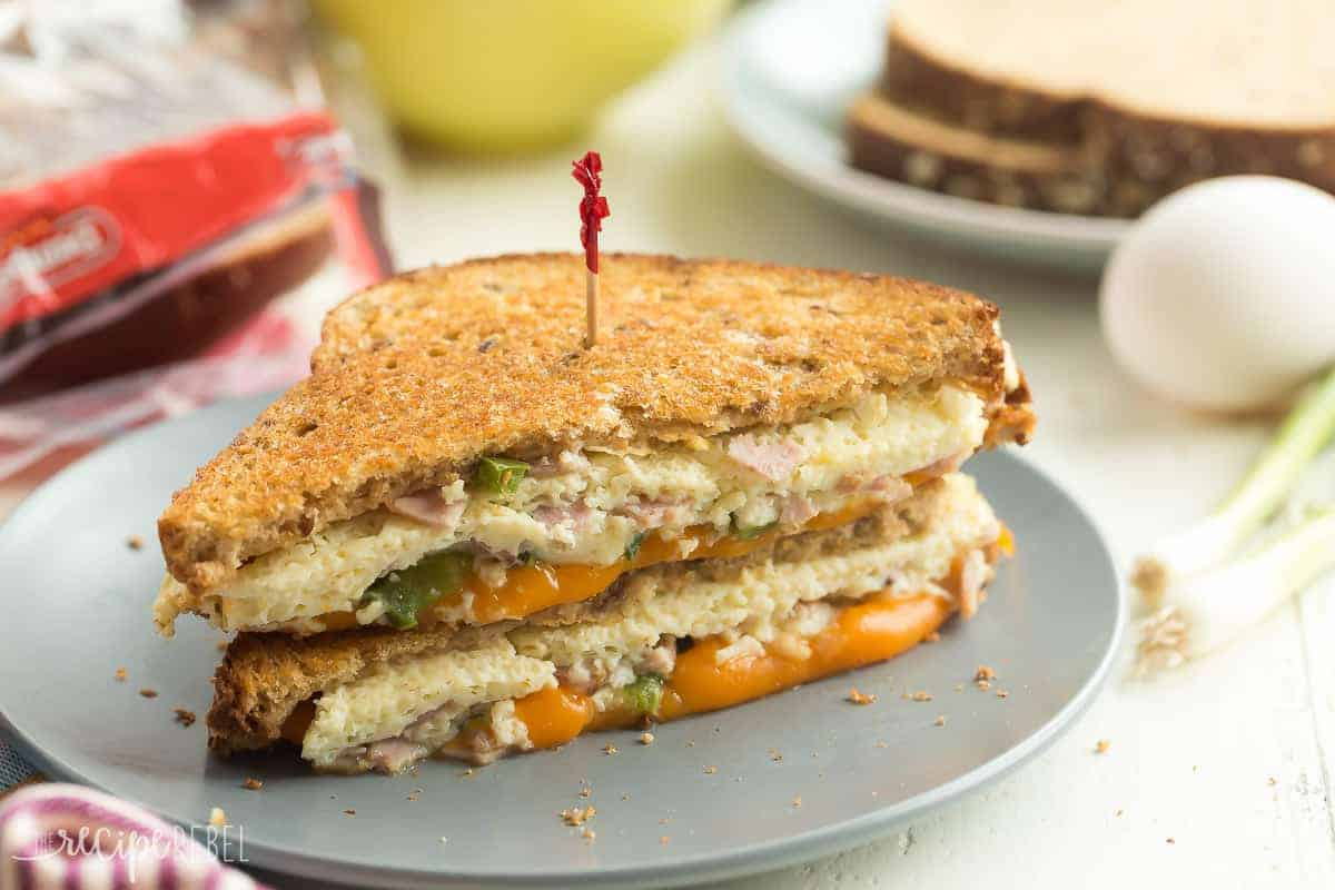This Denver Grilled Cheese Sandwich is the perfect make ahead and freezer-friendly meal for breakfast, lunch and dinner! It's made with natural ingredients and packed with protein and whole grains.