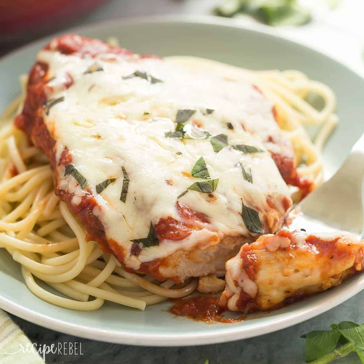 Healthier Skillet Chicken Parmesan: A 30 Minute Meal