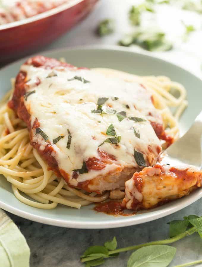 Healthier Skillet Chicken Parmesan