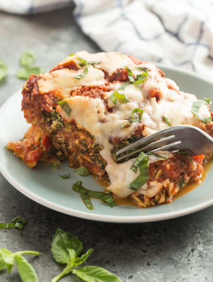 Spinach Ricotta Slow Cooker Lasagna