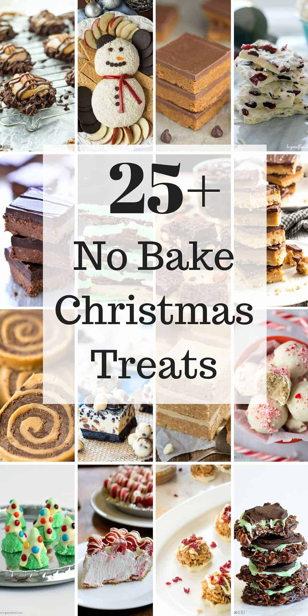 25+ No Bake Christmas Treats -- Easy Christmas cookies!