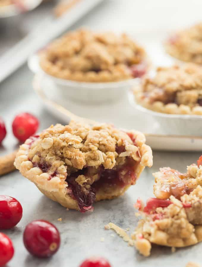 Mini Cider Spiced Cranberry Apple Pies