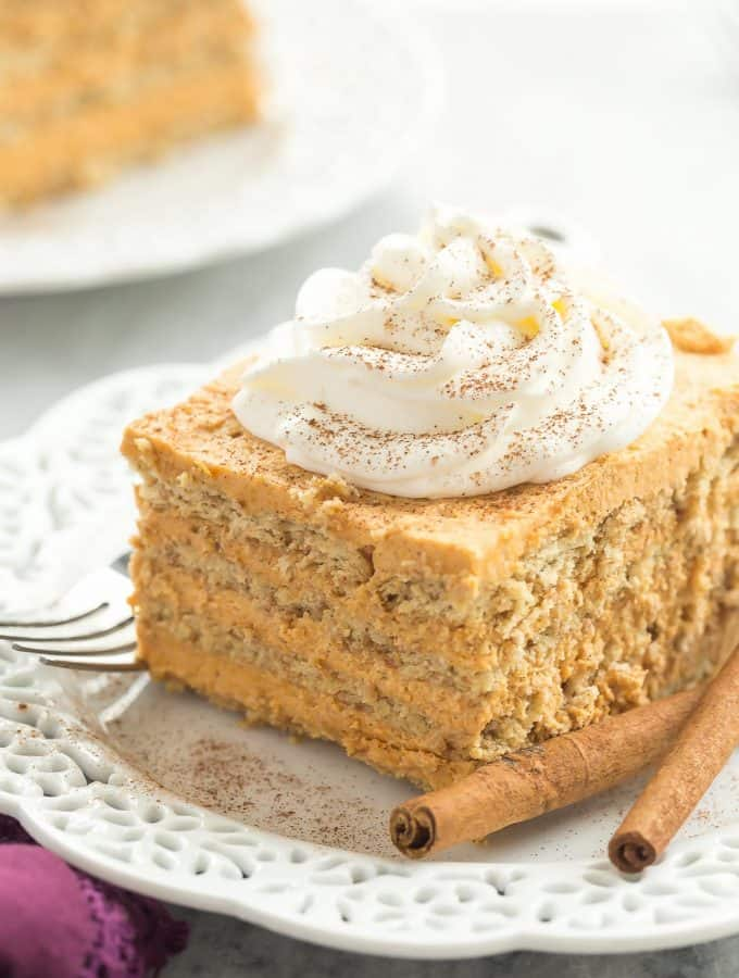 No Bake Pumpkin Pie Icebox Cake