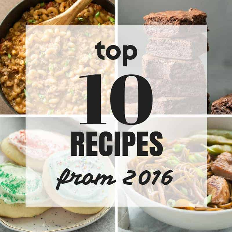 the top 10 recipes of 2016 on the recipe rebel -- fried chicken, brownies, cheesecake, pasta, slow cooker recipes and more!