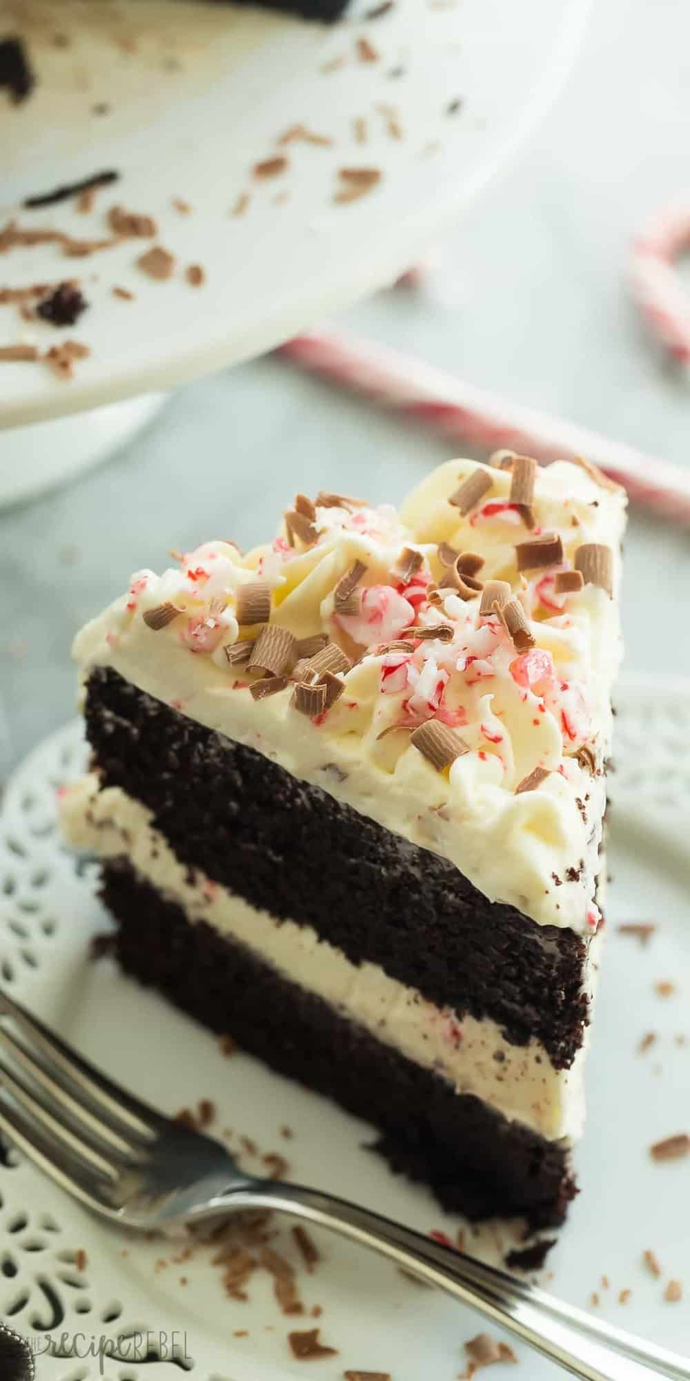 Layered Double Chocolate Peppermint Cake Recipe