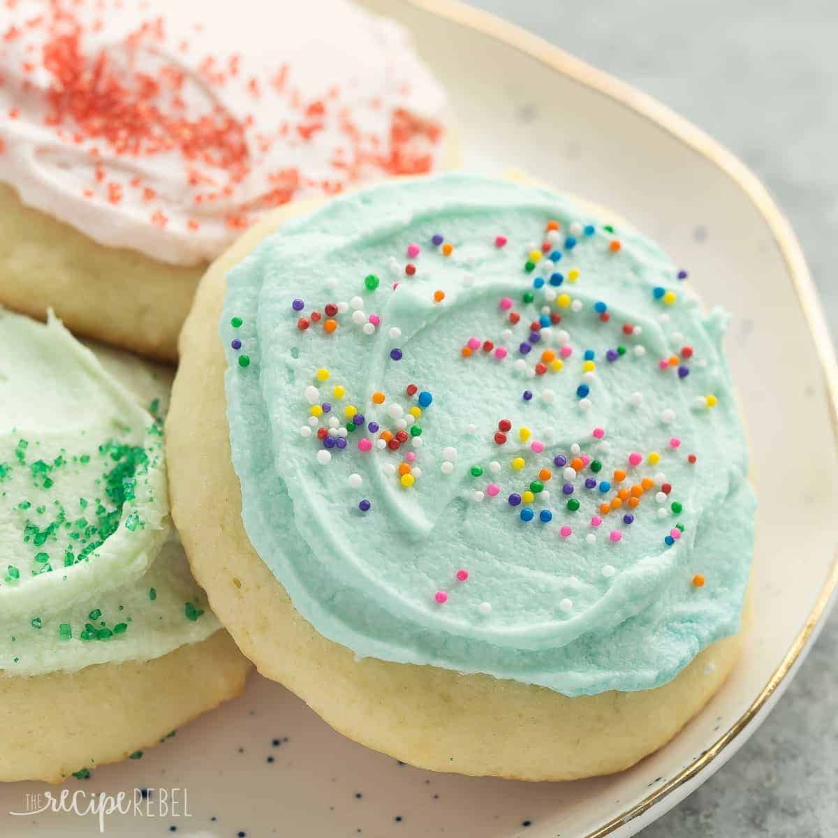 These Sour Cream Sugar Cookies Are Soft And Fluffy With Just The Right Amount Of Sweetness