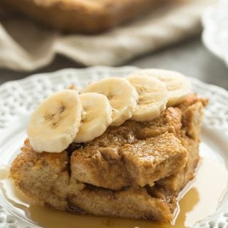 Overnight Peanut Butter French Toast Casserole + RECIPE VIDEO