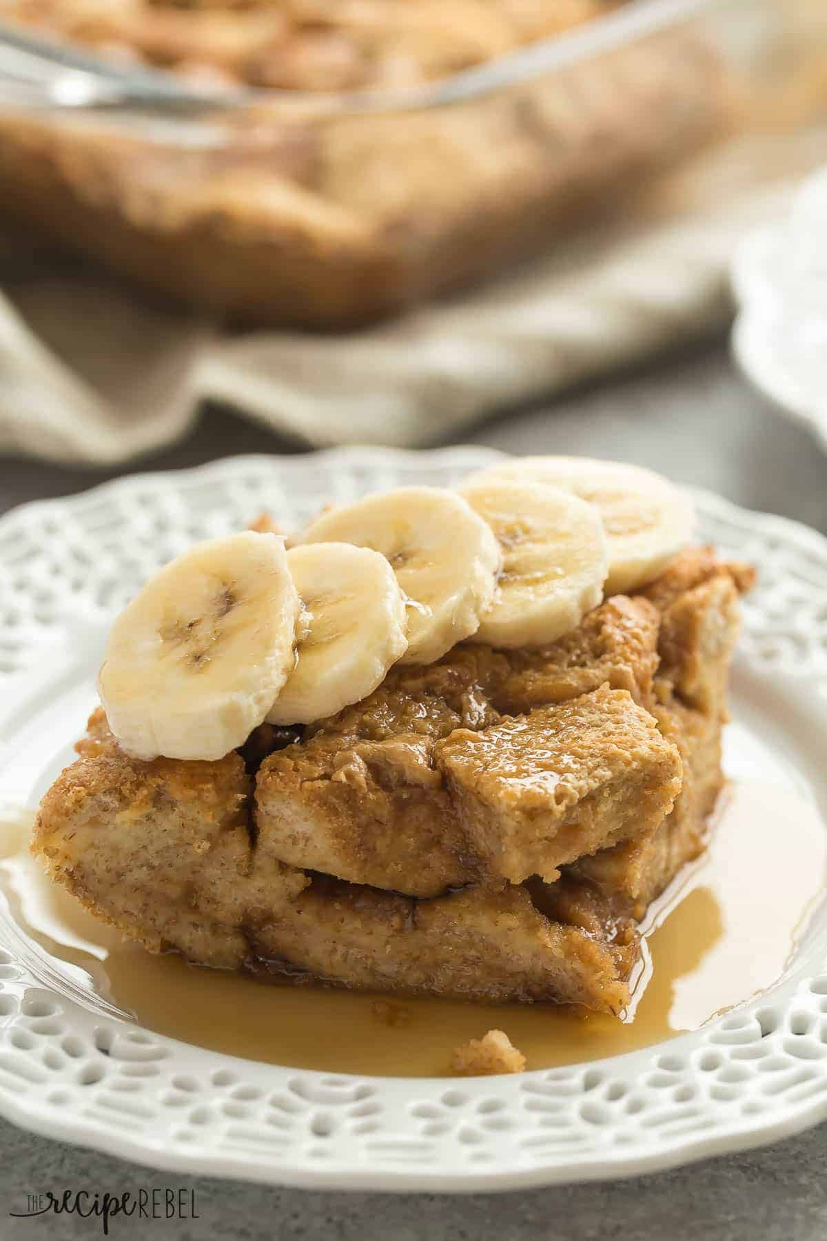 this overnight peanut butter french toast casserole is an easy make ahead breakfast thats perfect