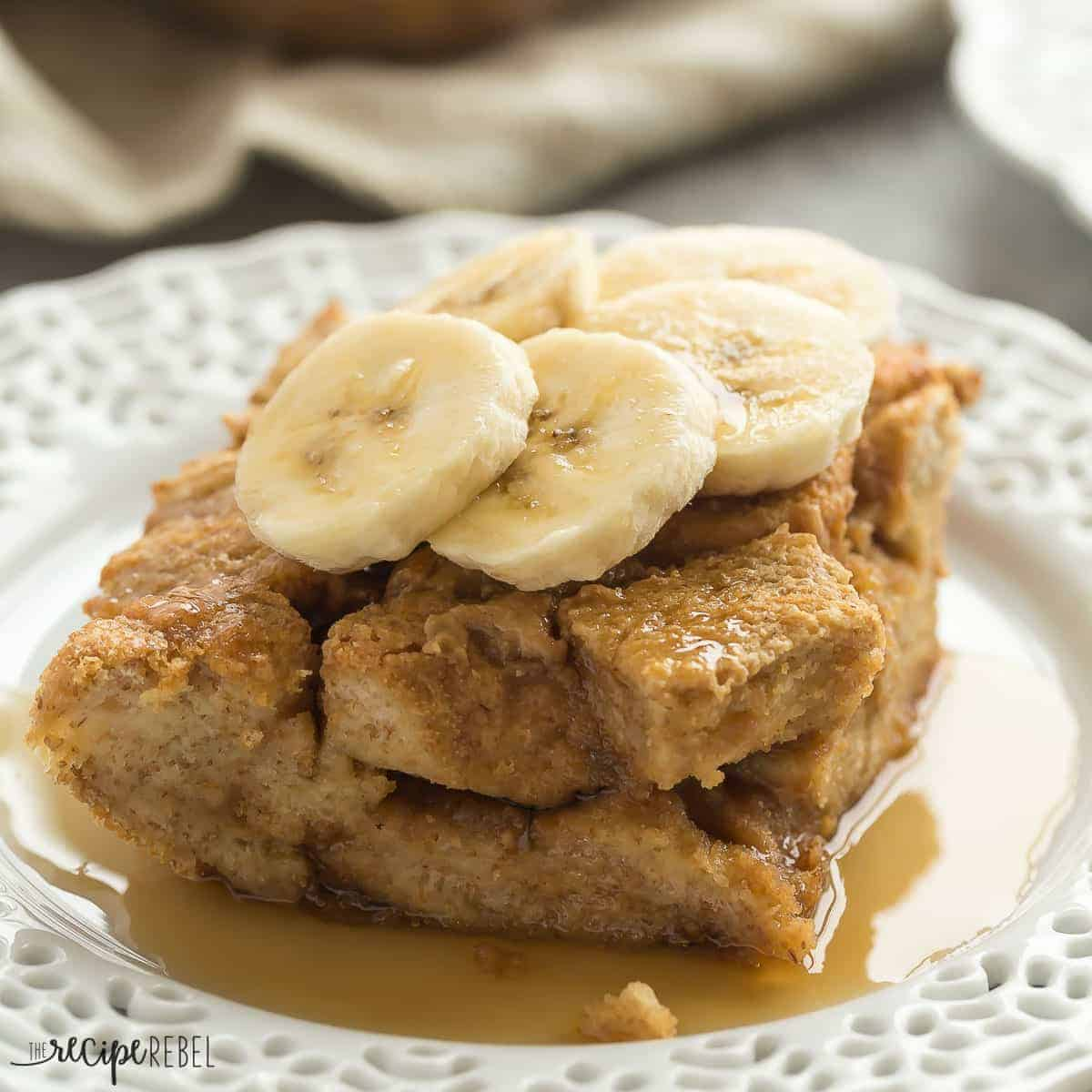 This Overnight Peanut Butter French Toast Casserole is an easy, make ahead breakfast that's perfect for the Thanksgiving or Christmas brunch! It's a new twist on a favorite that everyone will love!