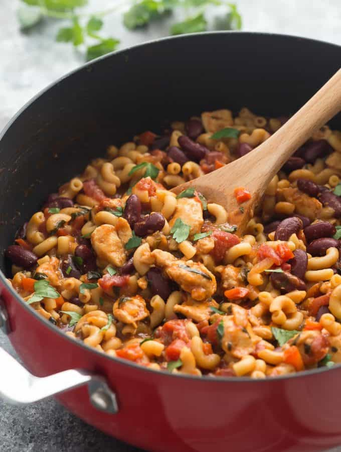 One Pot BBQ Chicken Chili Mac: 30 Minute Thursday