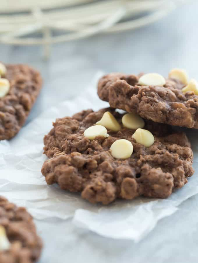 Chewy Double Chocolate Oatmeal Cookies