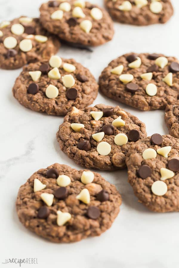 chocolate oatmeal cookies with chips