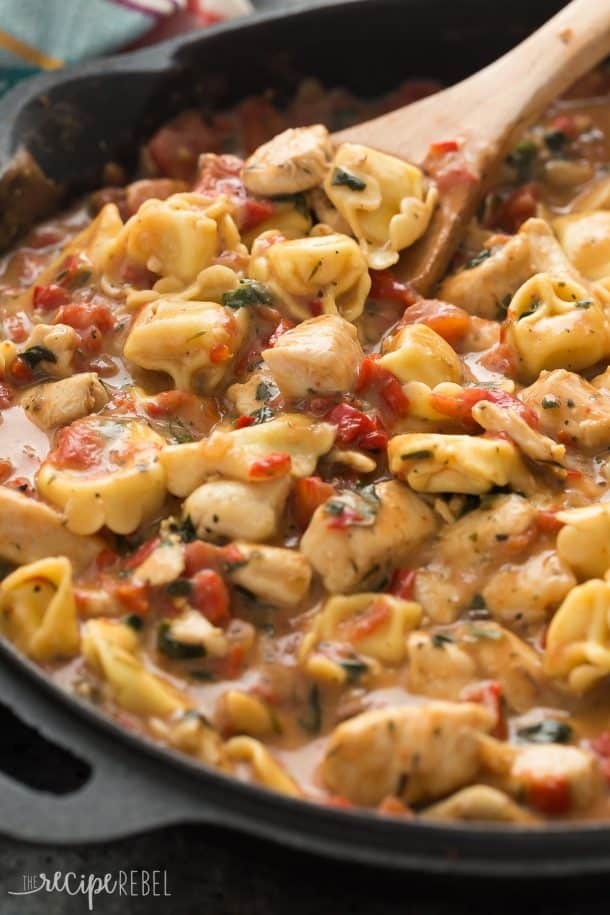 Italian Chicken Tortellini Skillet Recipe Video