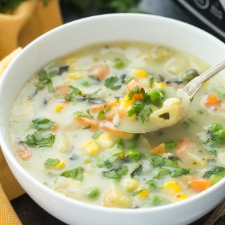 Slow Cooker Creamy Vegetable Soup + RECIPE VIDEO