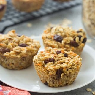 Easy Carrot Cake Baked Oatmeal Cups + RECIPE VIDEO