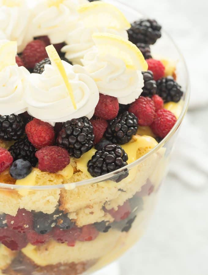 Lemon Berry Trifle Recipe + VIDEO