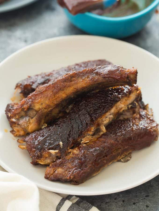Easy Slow Cooker BBQ Ribs + RECIPE VIDEO