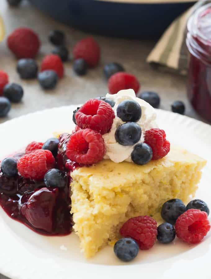 Lemon Baked Pancake with Triple Berry Sauce + VIDEO