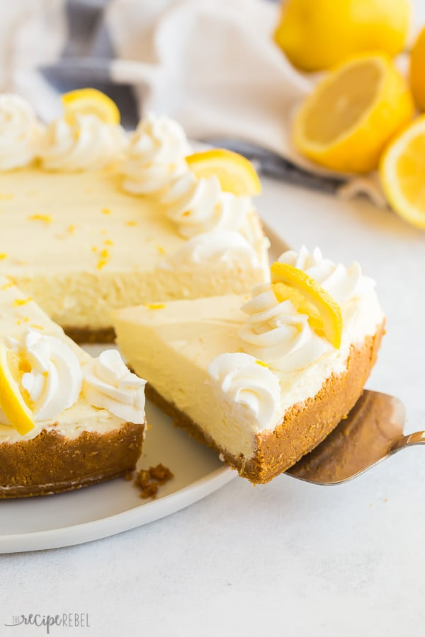 no bake lemon cheesecake slice