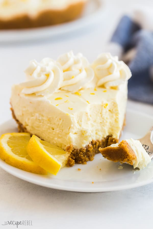 no bake lemon cheesecake with bite