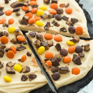 Frozen Peanut Butter Cup Dessert Pizza (Treatzza Pizza) + RECIPE VIDEO