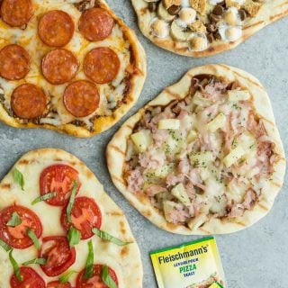 Grilled Pizza 4 Ways