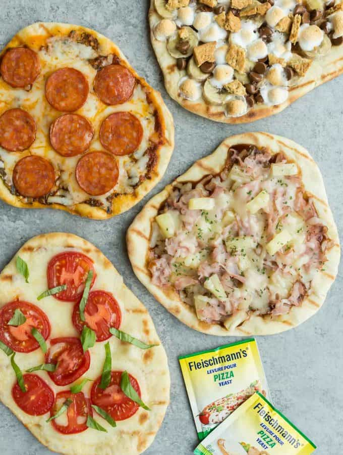 Grilled Pizza 4 Ways (and Giveaways!)