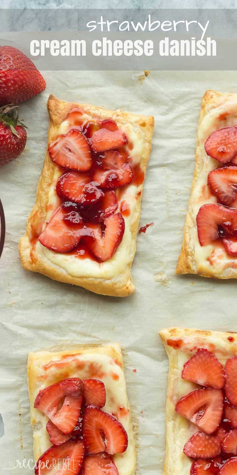 Easy Strawberry Cream Cheese Danish Video