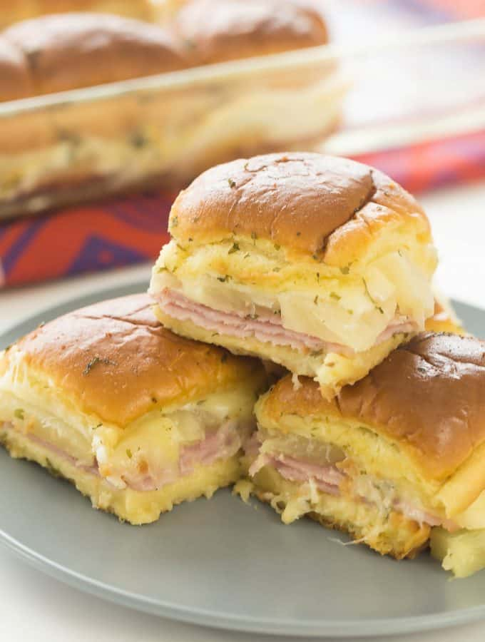 Hawaiian Ham and Pineapple Sliders + RECIPE VIDEO