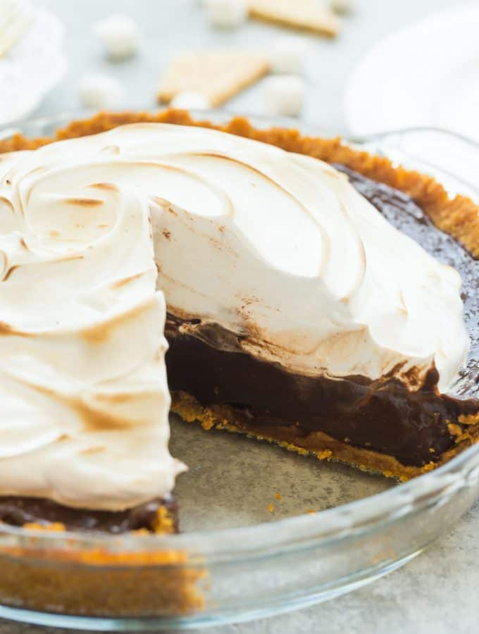 No Bake S'mores Pie Recipe