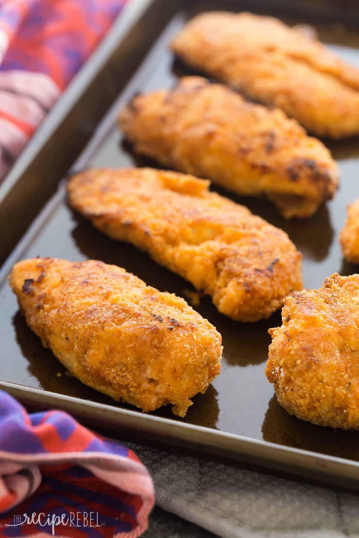 Crispy Sriracha Buttermilk Oven Fried Chicken Recipe Video