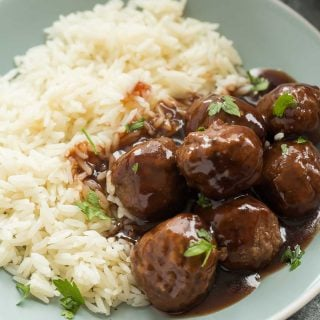 Slow Cooker Cranberry Meatballs Recipe + VIDEO