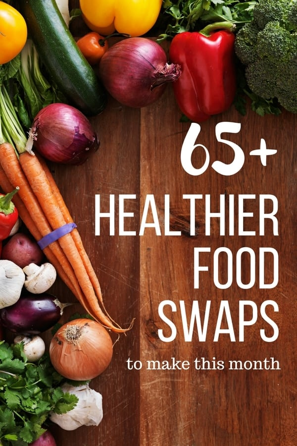 More than 65 ideas for healthy food swaps we can make this month, and next month, and as long as those resolutions last ;) These are tips and tricks from readers of The Recipe Rebel on healthier choices when it comes to the things we're cooking up.
