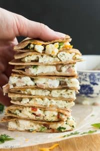 These Make Ahead Breakfast Quesadillas are the perfect healthy breakfast, lunch or dinner! They're easy to make for your week's meal prep, freezer friendly and totally customizable. A step by step recipe video shows you 4 different ways to make them: Broccoli Cheddar; Three Cheese Pesto; Roasted Red Pepper, Spinach and Parmesan; and Denver. | meal prep | make ahead breakfast | freezer breakfast quesadillas | freezer meal | #mealprep #makeahead #breakfast #freezermeal