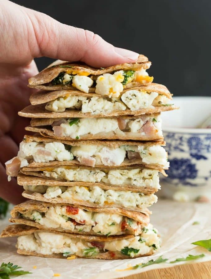 Make Ahead Breakfast Quesadillas 4 Ways + VIDEO