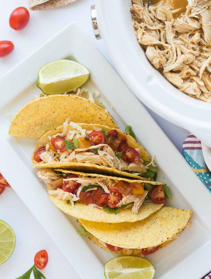 Sweet & Spicy Slow Cooker Chicken Tacos Recipe