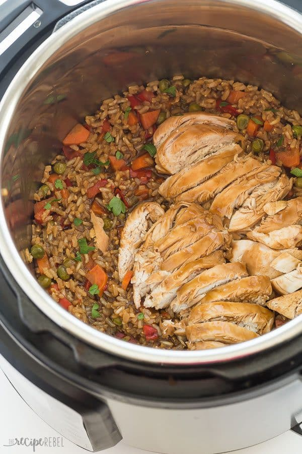 Instant Pot Teriyaki Chicken & Rice Recipe (pressure cooker)