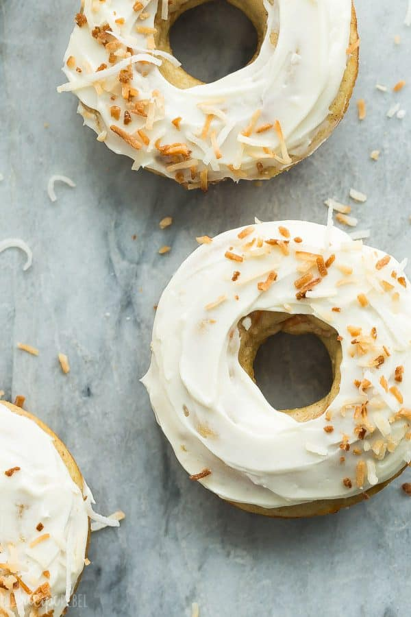 Carrot Cake Baked Donuts with Cream Cheese Frosting