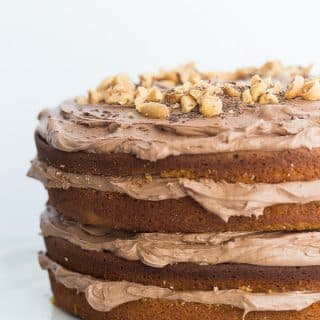 Peanut Butter Cake with Chocolate Cream Cheese Frosting