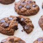 double chocolate chip cookies broken
