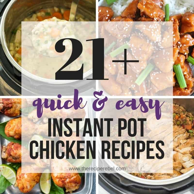 instant pot chicken recipes collage photos facebook