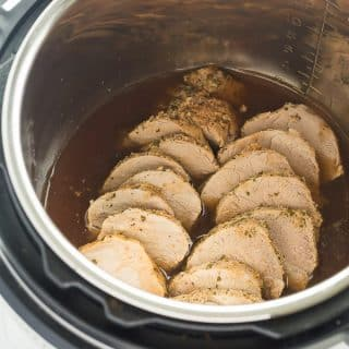 Instant Pot Pork Tenderloin with Garlic Herb Rub