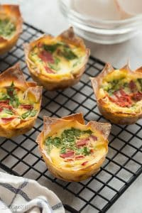Easy Mini Quiche Recipe With Spinach And Roasted Red Peppers