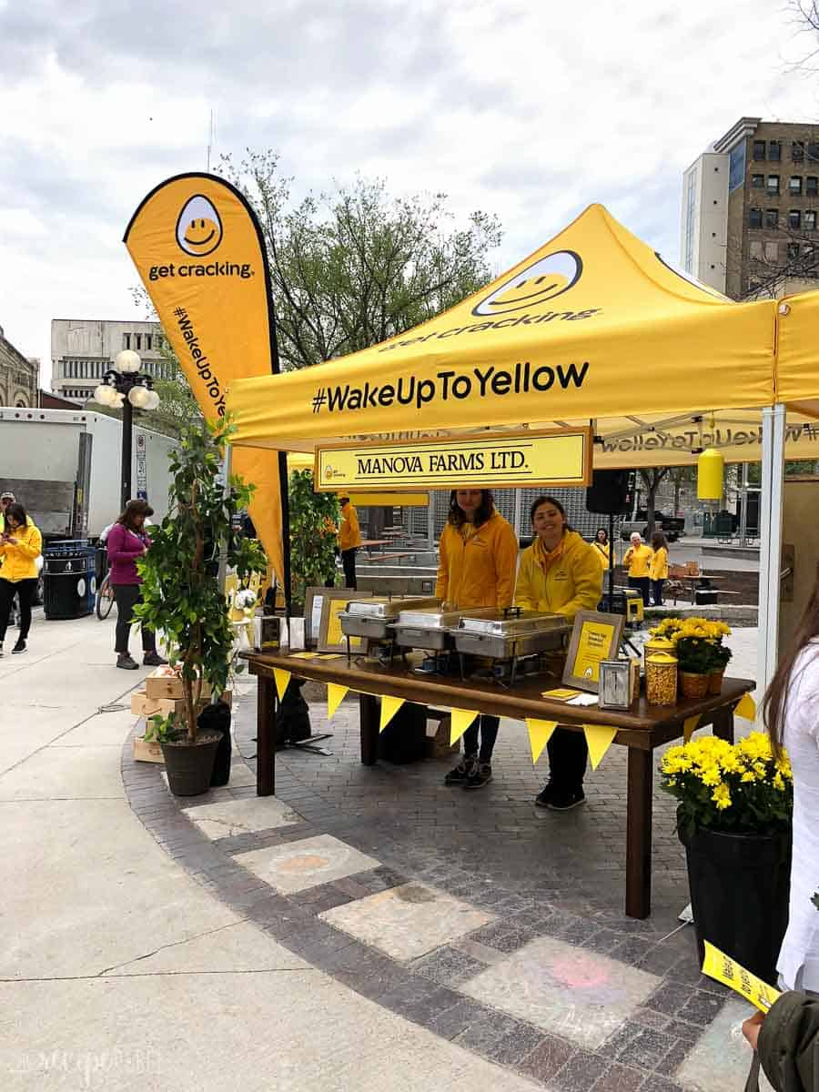 tent for the wake up to yellow event winnipeg manitoba