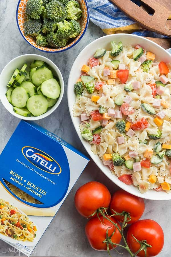 Creamy Ranch Bowtie Pasta Salad Recipe The Recipe Rebel